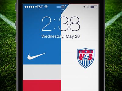 World Cup Lock Screen - USA usa soccer football world cup brazil wallpaper iphone usmnt