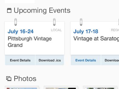 Calendar Events (More Color) calendar events blue