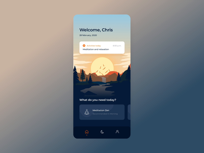 Mindfulness App Concept - Animated ui design interactions ios app mindfulness ux interface design illustration minimalist ux design ios app design app design animation interaction design interactive interface interaction