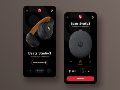 Beats App Design - eCommerce ecommerce ux ui  ux ui home app ios interaction minimalist app design ui design