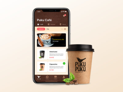 Puku Cafe Design iOS