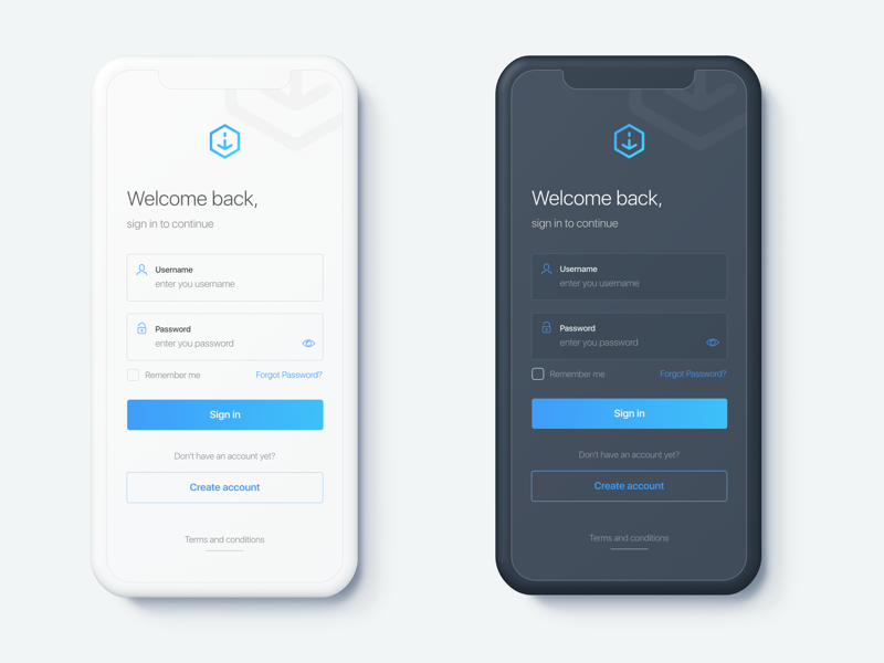 Login lite dribbble