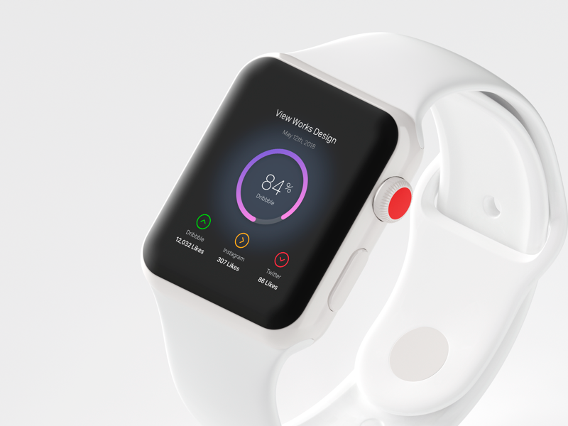 Dashboard in Apple Watch ux ui app design apple watch ux ui