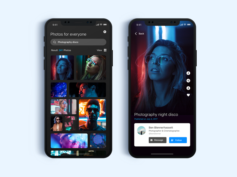 Search of Photography - Daily UI Challenge #4 search photography ui minialista ux ios app design app ux design ui design web design