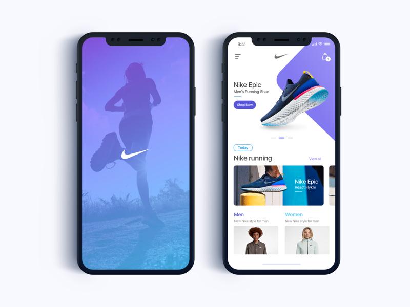 Nike App eCommerce - Daily UI Challenge #5 ecommerce ui minialista ux ios app design shopping ux design ui design web design