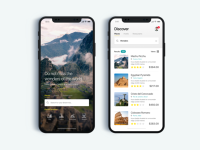 Travel and Tourism App - Daily UI Challenge #6