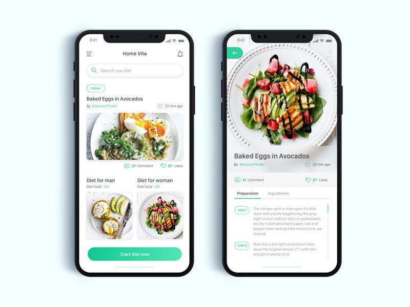 Vita Part 2 App UI Design - Daily UI Challenge #8 home app detail inspiration ui minimalist ux ios app design login ux design ui design web design