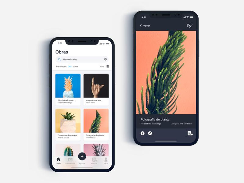 Gallery Art UI Design - Daily UI Challenge #9 art galley home app detail inspiration minimalist ux ios app design login ux design ui design