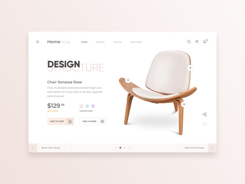 eCommerce Web Home Page - Sale of Chair web desgin slide design shop design shop app sale chair home page design web ecommerce ecommerce design ecommence