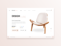 eCommerce Web Home Page - Sale of Chair