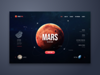 Space Tour Web UI Design