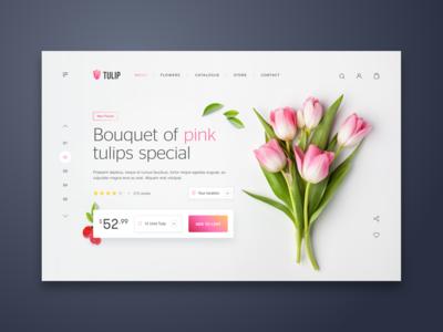 Tulip Web UI Design - eCommerce
