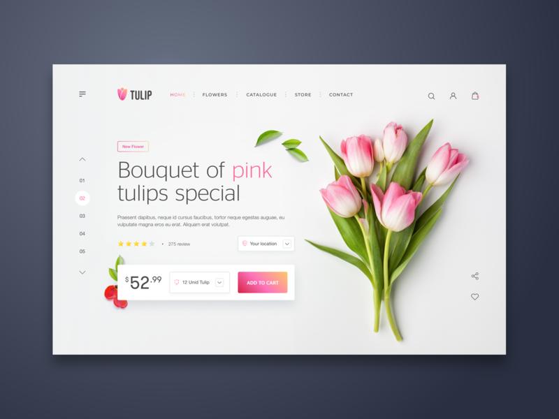 Tulip Web UI Design - eCommerce ui  ux ui  ux design cart ecommerce design ecommerce design detail web design minimalist minialista ux design ui design ui ux