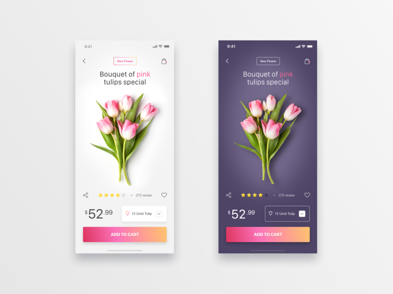 Flower eCommerce App - Daily UI Challenge #14 flowershop ecommerce app ui  ux design ui  ux interaction iphone x inspiration ecommerce ecommerce design minimalist app design minialista ui design detail web design ios ux design ui design ux