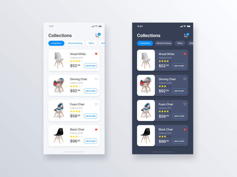 Collections Chair eCommerce App - Daily UI Challenge #15 chair user interface design ui  ux design ui  ux interaction iphone x home app minimalist inspiration ecommerce design ecommerce detail minialista ios ui app design ux design ui design ux