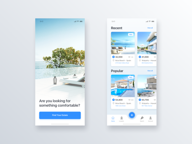 Real Estate App - Daily UI Challenge #17 user interface ui  ux design ui  ux interaction design inspiration home app detail minimalist minialista ui ux design ios app design ui design ux