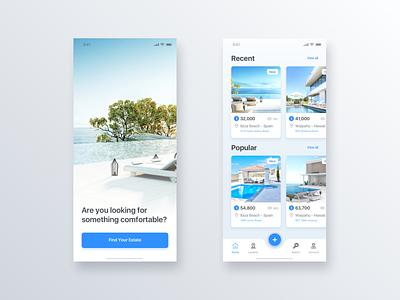 Real Estate App - Daily UI Challenge #17 user interface ui  ux design ui  ux interaction design inspiration home app detail minimalist minialista ui ux design ios app design ui design ux