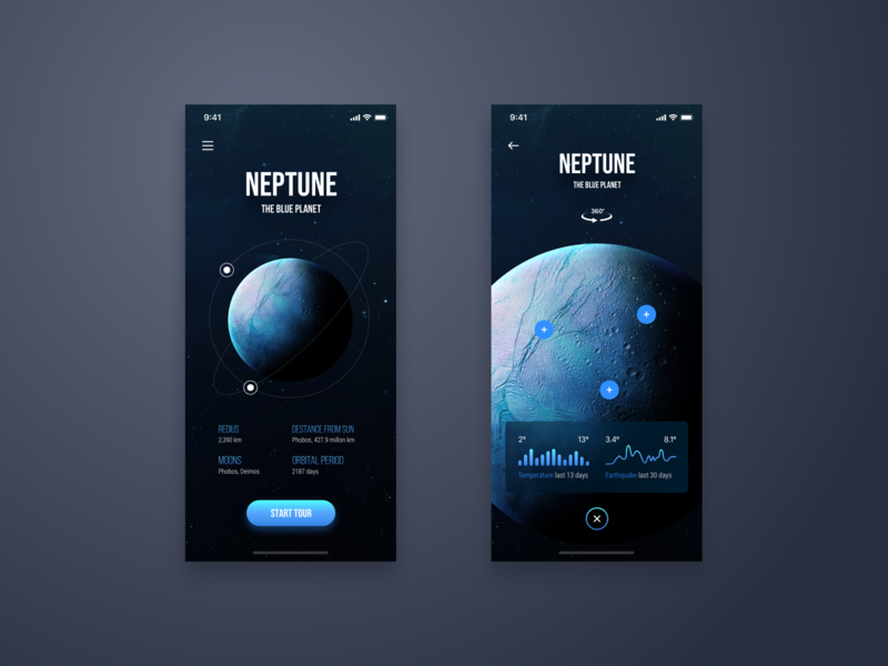 Space Tour App - Daily UI Challenge #19 inspiration user interface iphone x interaction ui  ux design design minimalist ui home app ui  ux detail minialista ui design ios app design ux design ux