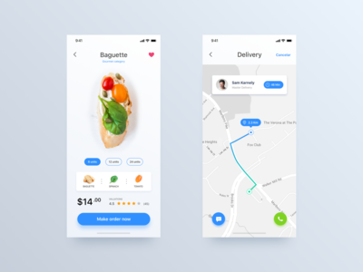 Delivery App - Daily UI Challenge #20