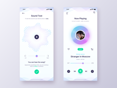 Play Music App - Daily UI Challenge #21