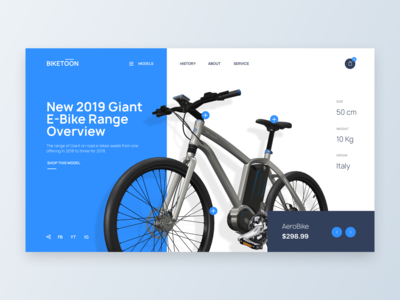 Bike eCommerce - Web UI Design