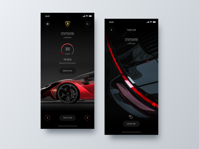 Shop Car App + Tour 360º app ui design ux designer iphone shop app app ios app concept minimalist ios app design