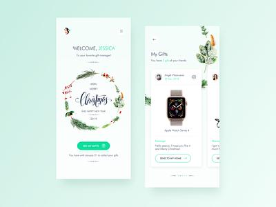 Gift Manager App home app interaction ux ui  ux app design app concept christmas inspiration minimalist ios ui ui design