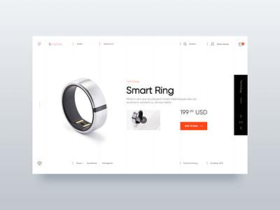 Smart Ring - Web UI Design home design user interface ecommerce design landing page web design minialista ecommerce interaction detail ui  ux design ui  ux inspiration design ui minimalist ux design ux ui design