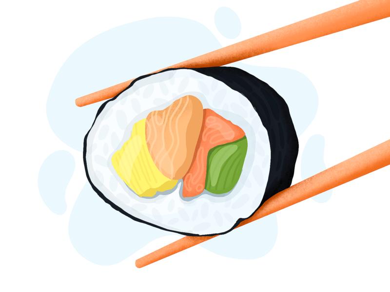 Sushi 🍣 illustration inspiration drawing illustraion procreate illustration procreate art procreate