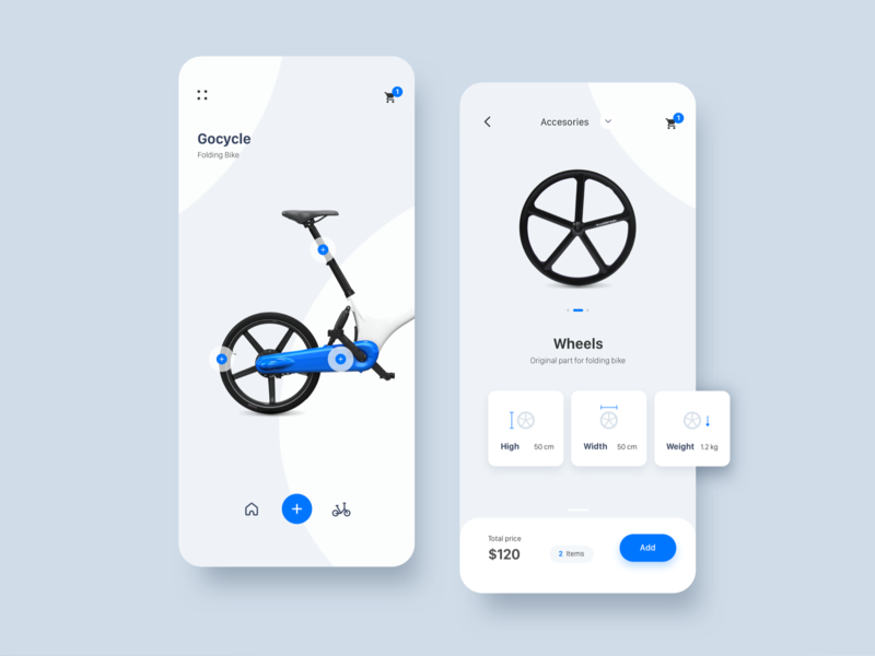 Bike Store App app app concept detail interaction ios ui ux design ux ecommerce ecommerce app store bike inspiration minimalist app design ui design