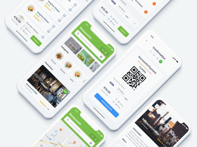 Restaurant App iphonex app restaurant app restaurant restaurant design restaurant app home app ui  ux ios ui ux ux design minialista inspiration minimalist app design ui design