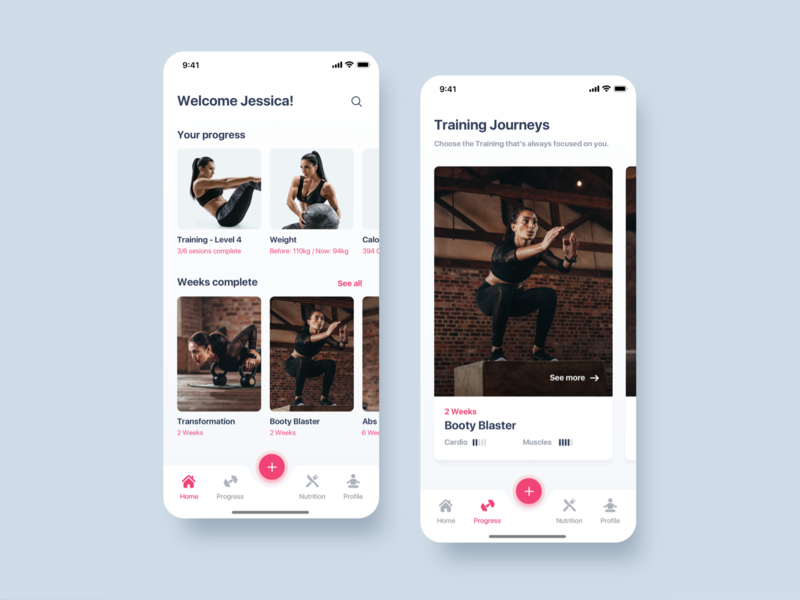 Training Fitness App user interface interaction detail training app home app design fitness app training inspiration minimalist ios ui minialista ui  ux app design ux design ux ui design