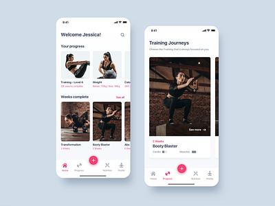 Training Fitness App user interface interaction detail training app home app design fitness app training inspiration minimalist ios ui minialista ui  ux app design ux design ux ui design