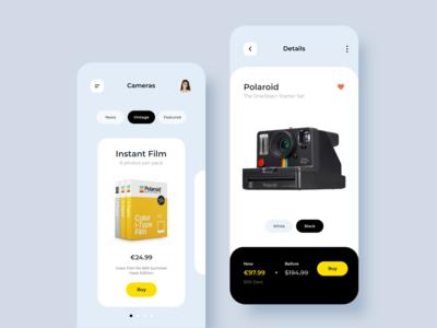 eCommerce App Camera