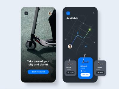 Scooter Rental App Concept