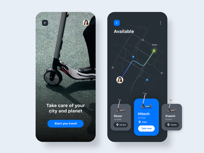 Scooter Rental App Concept minimalist iphone x ecommerce user interface detail interaction travel app concept app home app inspiration minialista iosapps ios ux design app design ui design ui ux rental app scooter