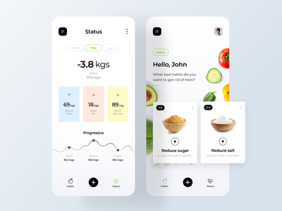 Healthy App Concept app concept inspiration detail home app minialista interaction ux ui app design ios progressive dashboard dashboard ui minimalist ui design app app ui healthy app healthy food healthy