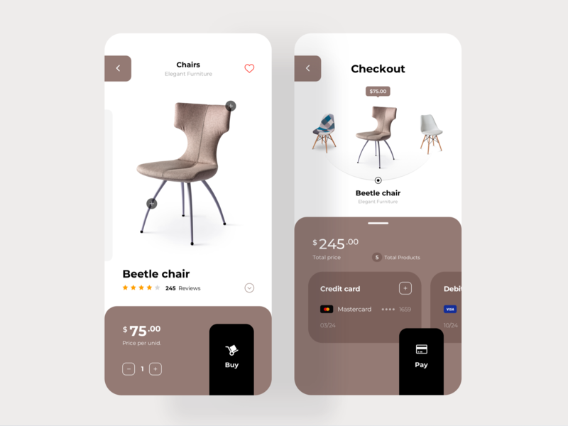 eCommerce Furniture App Concept furniture app furniture design ixd payment app pay payment creditcard ios app ux design interaction ecommerce shop ecommerce design ecommerce app ecommerce ui concept ui design app design app concept ios app