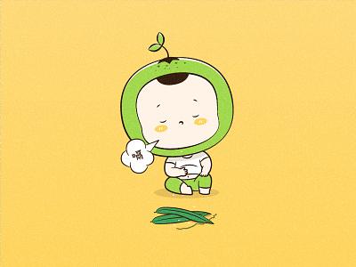 BabyOrange boy orange baby illustration