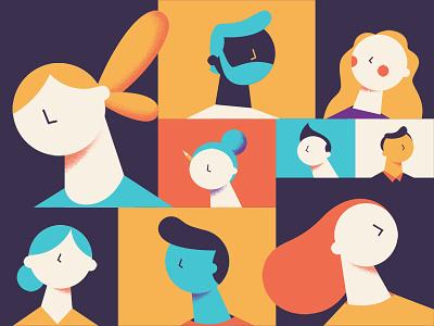 头像 design colors illustration