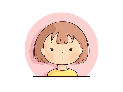 Girl girl illustration
