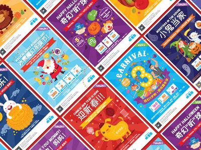Events Posters for ZipPiTeeDoo's Kids Club