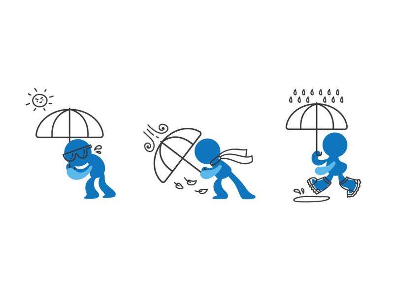 Umbrella window rain sun weather pattern umbrella illustraion