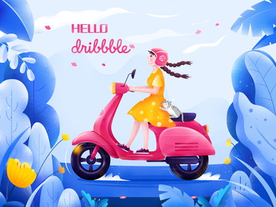 Hello~ Dribbble design ui illustration