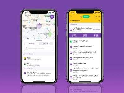 Citybus NWFB App Concept Redesign