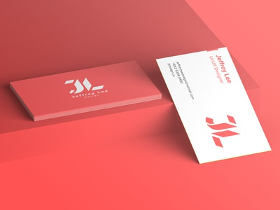 Jeffrey Lee Personal Branding - Name Card Mockup