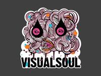 VisualSoul street art sticker