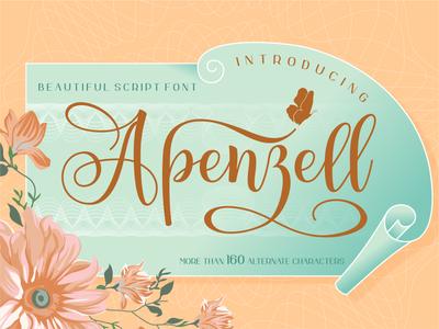 Apenzell Script handlettering script lettering wedding typography script font script