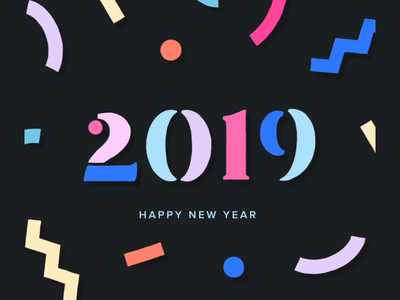 2019 GREETINGS mixed media sound design typography greetings 2019 video after affects c4d 3d motion design motion art direction animation 2d