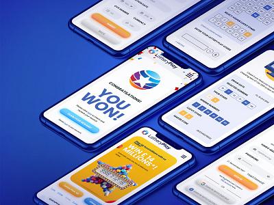 Lottery Play UX/UI Design figma design figma mockup iphone responsive web design responsive web website mobile app mobile ui design ux design uxui ux  ui ui ux